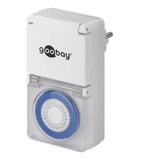 Goobay analogna dnevno-tedenska timer vtičnica IP44