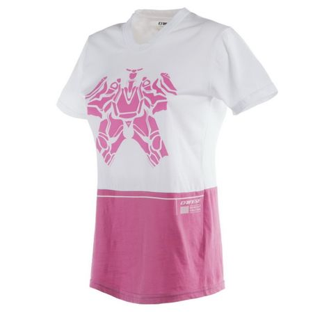 Dainese dámské triko LAGUNA SECA LADY vel.XS bílá/růžová