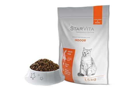 Starvita hrana za domače mačke, 1,5 kg