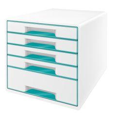 Leitz Box zásuvkový WOW 5 zásuvek ledově modrý