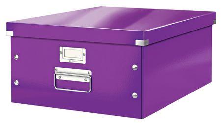 Krabice CLICK & STORE velká archivační, purpurová