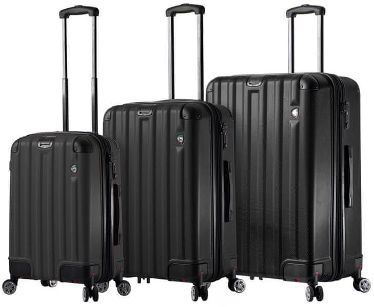 Mia Toro Sada cestovních kufrů M1300/3, černá
