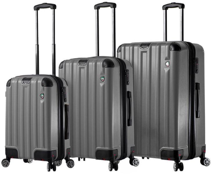 Mia Toro Sada cestovních kufrů M1300/3, šedá