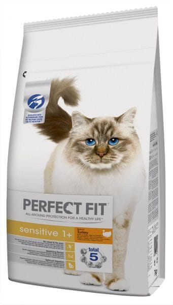 Perfect fit Granule krůtí pro dospělé kočky s citlivým zažíváním 7kg