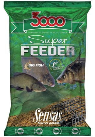 Sensas Kŕmenie 3000 Super Feeder New 1 kg river
