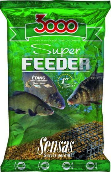 Sensas Krmení 3000 Super Feeder 1kg řeka