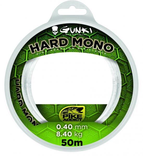 GUNKI Vlasec Hard Mono Čirá 50 m 0,40 mm, 8,40 kg