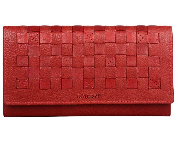 Lagen Dámská kožená peněženka AM 7375 RED