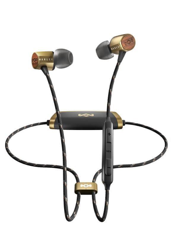MARLEY Uplift 2 Wireless bezdrátová sluchátka, zlatá