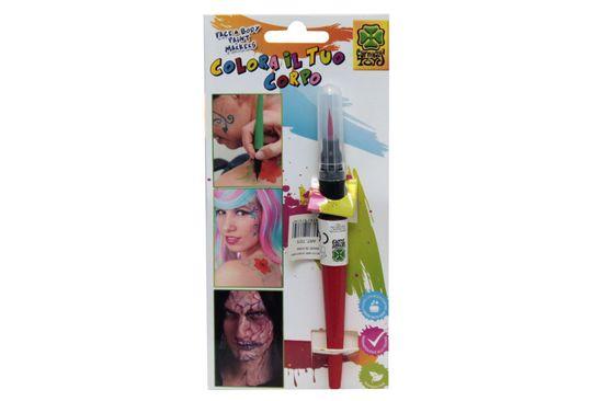 Carnival Toys Cčopič četka s bojom za lice, crvena (7375)