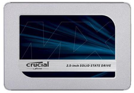 Crucial disk SSD MX500 250GB 2.5 SATA3 3D TLC, 7mm