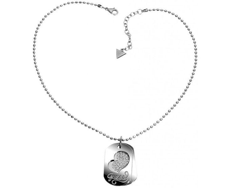 Guess Ocelový náhrdelník Zamilované psí známky USN80907