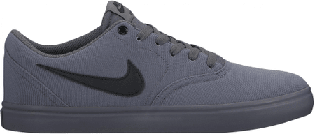 Nike SB Check Solarsoft Canvas Skateboarding Shoe/Dark Grey/Black 42