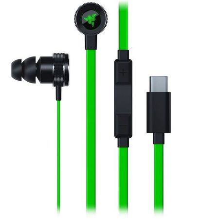 Razer slušalke Hammerhead USB-C, zelene