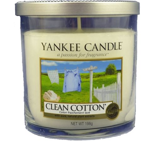 Yankee Candle dišeča sveča Clean Cotton, 198 g