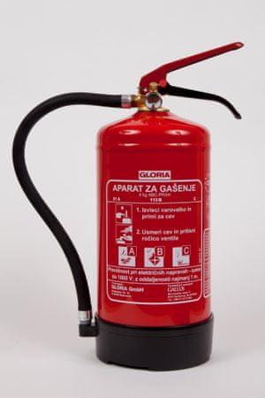 Gallus gasilni aparat Gloria PD4G s prahom ABC, 4 kg