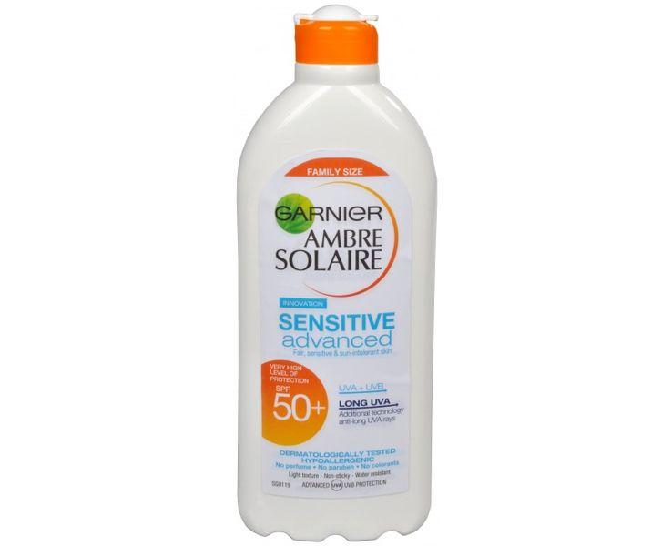 Garnier Opalovací mléko pro citlivou pokožku Ambre Solaire Sensitive Advanced SPF 50+ 400 ml