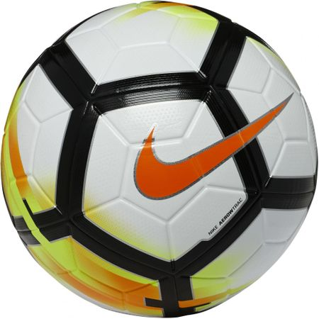 Nike nogometna žoga Ordem V, bela/ oranžna, črna, 5