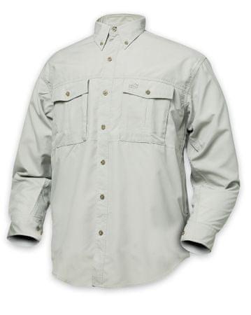 Geoff Anderson Košile Polybrush Cementová Dlouhý Rukáv XXXL