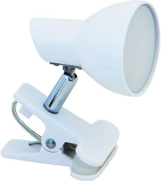 Velamp CHARLY Bodová LED lampa s klipem, bílá
