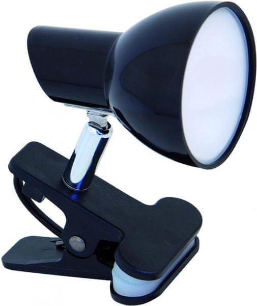 Velamp CHARLY Bodová LED lampa s klipem, černá