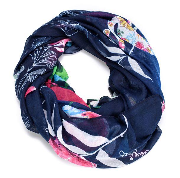 Desigual dámský tmavě modrý šátek Foulard Birdpalm