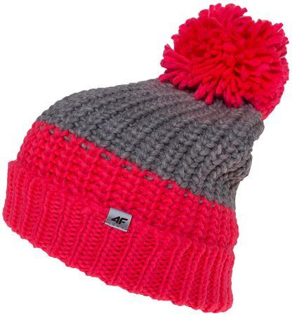 4F dziewczęca czapka J4Z17 JCAD207 neon koral 56