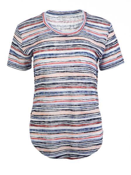 Pepe Jeans dámské tričko Cova S vícebarevná