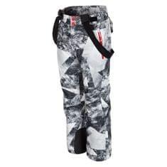 4F chłopięce spodnie narciarskie J4Z17 JSPMN401 allover czarno-biały