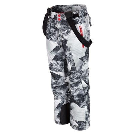 4F chłopięce spodnie narciarskie J4Z17 JSPMN401 allover czarno-biały 134