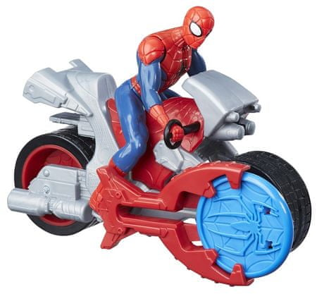 Spiderman Figurka Spider-Man 15 cm z pojazdem