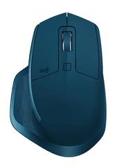 Logitech brezžična miška MX Master 2S, modra
