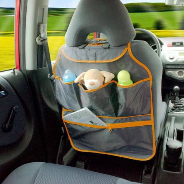 DIAGO Organizér do auta oranžová/šedá