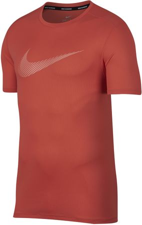 Nike moška majica M NK Brt Run Top SS GX, Rush Coral Crimson Bliss, L