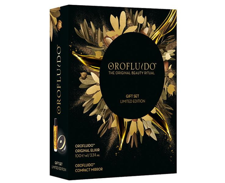 Orofluido Dárková sada na vlasy se zkrášlujícím elixírem a kosmetickým zrcátkem The Original Beauty Ritual