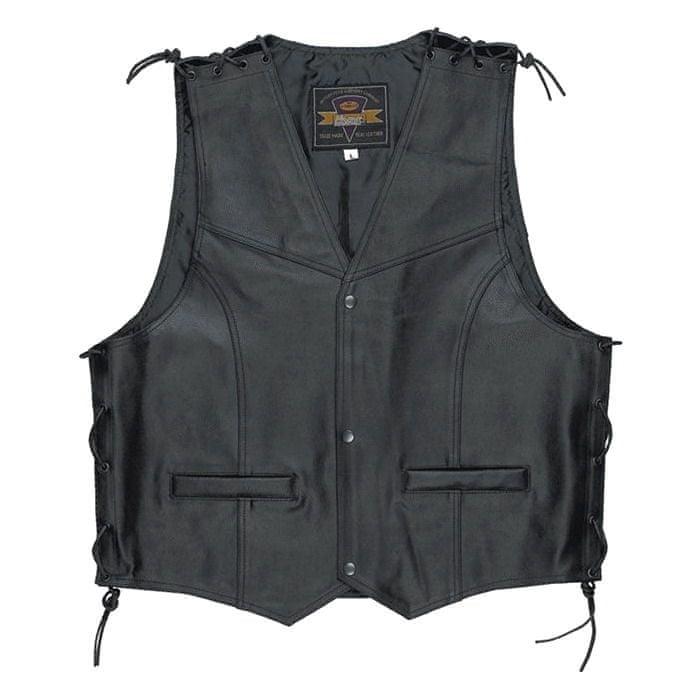Held pánská vesta PATCH vel.L černá kůže