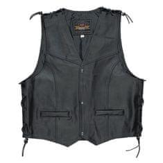 Held pánská motorcyklová vesta  PATCH, černá, kůže