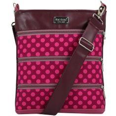 Dara bags Růžová puntíkatá crossbody kabelka Dariana Middle no. 1161