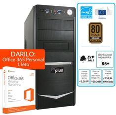 PCplus namizni računalnik E-Office i3-7100/4GB/240GBSSD/W10H + 1 leto Office 365 Personal