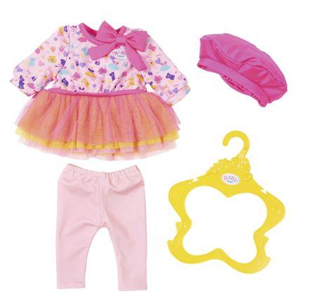BABY born oblekica z roza baretko