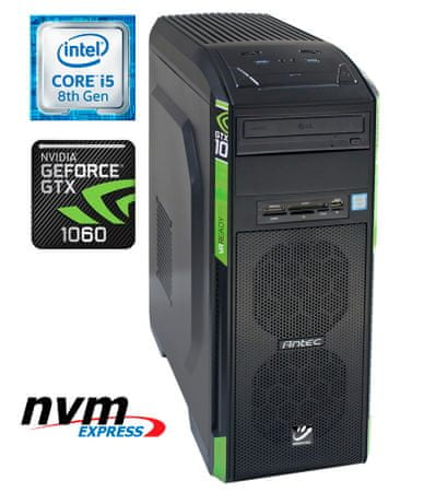 mimovrste=) namizni računalnik Gaming i5-8400/8GB/SSD256GB+1TB/GTX1060GB/FreeDOS (PC-G6854-M)