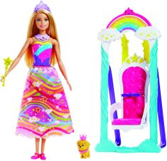 Mattel Barbie Księżniczka z Tęczowym Tronem