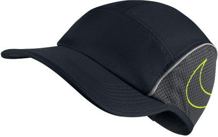 Nike czapka do biegania U NK Arobill Aw84 Cap Run, black anthracite volt