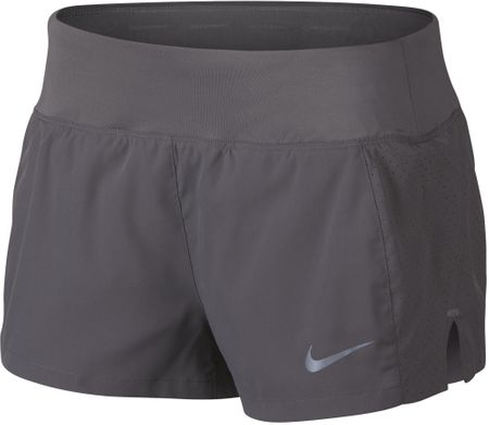 Nike spodenki do biegania damskie W NK Eclipse 3In Short, gunsmoke M