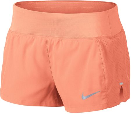 Nike spodenki do biegania damskie W NK Eclipse 3In Short, crimson pulse L