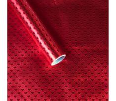 Giftisimo Luxusní strukturovaný balicí papír, červená srdíčka, 5 archů