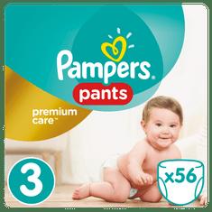 Pampers Plenkové kalhotky Premium Pants 3 Midi - 56 ks