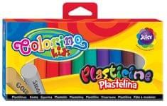 Modelína Colorino 12 barev (10 + stříbrná a zlatá)
