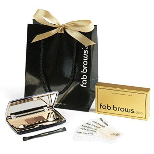 fab brows Luxusní sada pro úpravu obočí (Odstín Dark Brown/Chocolate)