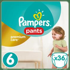 Pampers Plenkové kalhotky Premium Pants 6 Extra Large - 36 ks